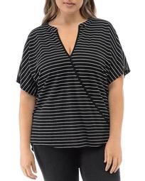 Ila Striped Surplice Top