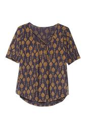 Knit Retro Print Top (Plus Size)