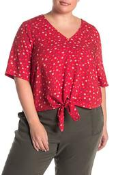 Prairie Posies Tie Front Top (Regular & Plus Size)