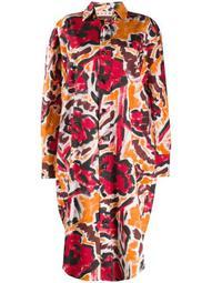 boxy fit floral print shirt dress