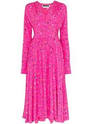 Tracy splatter print midi dress