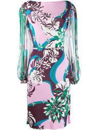 patterned midi dress