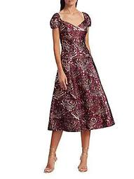Brocade Fit & Flare Dress