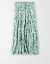 AE Printed Midi Slip Skirt