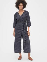 Wide-Leg Wrap Jumpsuit