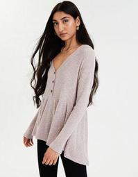 AE Plush Long Sleeve Peplum T-Shirt