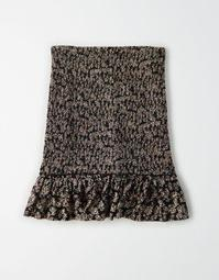 AE Ruffled Smocked Mini Skirt