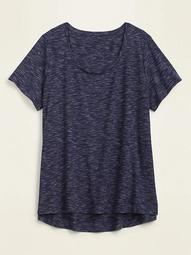 Luxe Rib-Knit Plus-Size Swing Tee