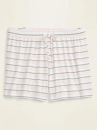 Jersey Plus-Size Pajama Shorts -- 4.5-inch inseam