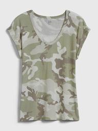 Relaxed V-Neck T-Shirt