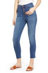 10-Inch High Waist Button Front Crop Skinny Jeans (Hayden) (Regular & Plus Size)