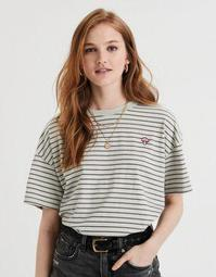 AE Oversized Embroidered Graphic T-Shirt