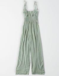 AE Printed Tie Strap Jumpsuit