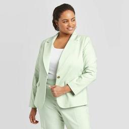 Women's Plus Size Blazer - A New Day™ Green