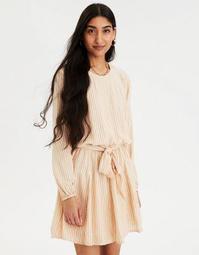 AE Striped Tie Waist Mini Dress