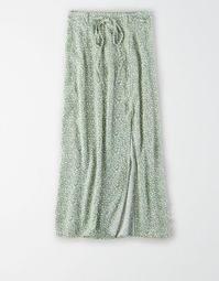 AE High-Waisted Tie Up Midi Skirt