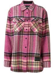 oversized checked shirt jacket
