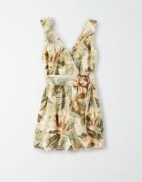 AE Tropical Print Wrap Romper