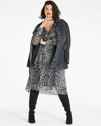 Cold Shoulder Obi Wrap Dress
