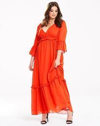 Truly You Ruffle Maxi Dress