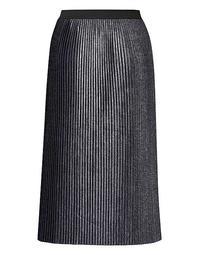 Joanna Hope Pleated Metallic Skirt