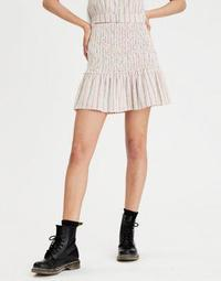 AE High-Waisted Smocked Ruffle Mini Skirt