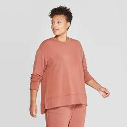 Women's Plus Size Crewneck Sweatshirt - Ava & Viv™