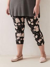 Floral Print Capri Legging - Addition Elle
