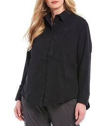 Plus Size Outdoor Trail Long Sleeve Shirt