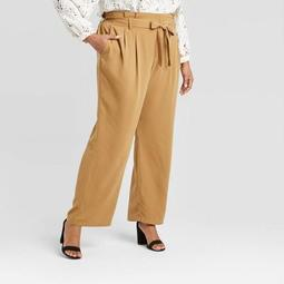 Women's Plus Size High-Rise Paperbag Pants - A New Day™
