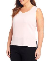 Plus Size Sleeveless Sweetheart Tank