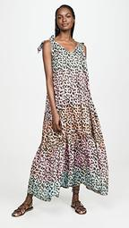 Leopard Print Maxi Cover Up Dress