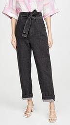 Super High Rise Darted Jeans