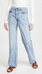 Slouchy Straight Leg Jeans