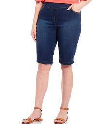 Plus Size the PARK AVE fit Denim Capri Skimmer