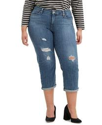 Trendy Plus Size Boyfriend Ripped  Skinny Jeans
