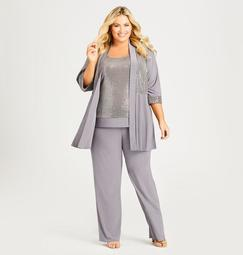 Glitter Knit Matching Suit Set