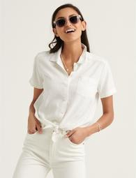 Tie Front Short Sleeve Shirt