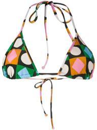 Lucky Charms-print bikini top