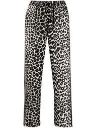 high-waist animal-pattern trousers