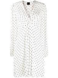 long-sleeve polka dot printed dress