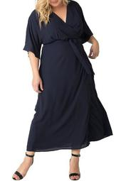 Olivia Wrap Maxi Dress (Plus Size)