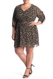 Entanglement Animal Print Dress (Plus Size)