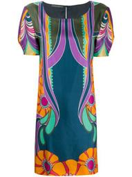 Flowers Reflection silk dress