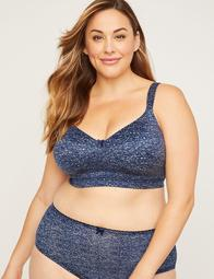 Full-Coverage Smooth No-Wire Bra with Bow