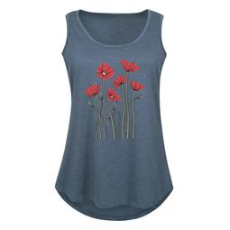 Abstract Poppies  - Women's Plus Size Tank