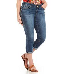 """Plus Size """"Ab"""" Solution Skinny Jeans"""