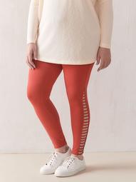 Side Lattice Legging - Addition Elle
