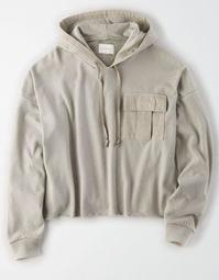 AE Cropped Utility Hoodie