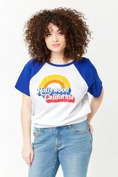 Plus Size Hollywood California Raglan Tee